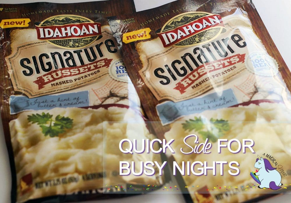 Idahoan Russets mashed potatoes - new to taste even more like homemade
