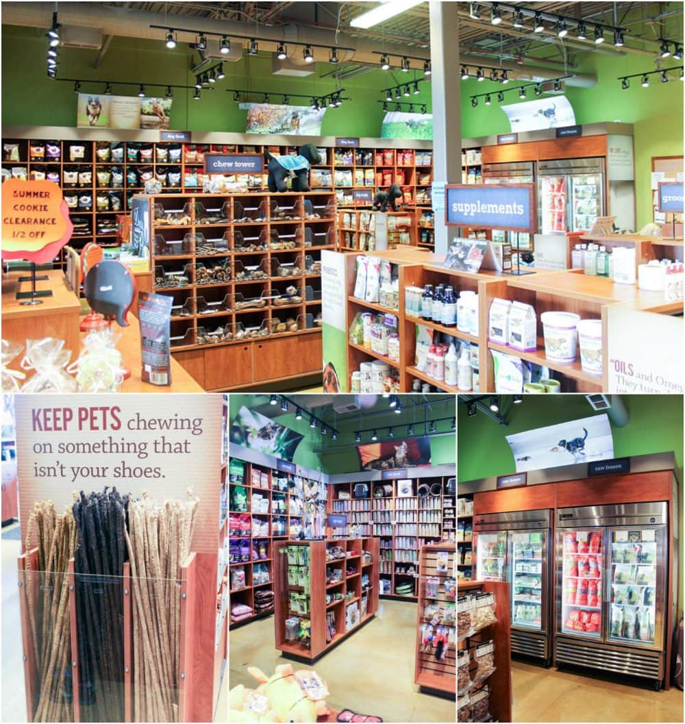 Riser's natural pet store is so organized. Everything is clearly labeled and easy to find.