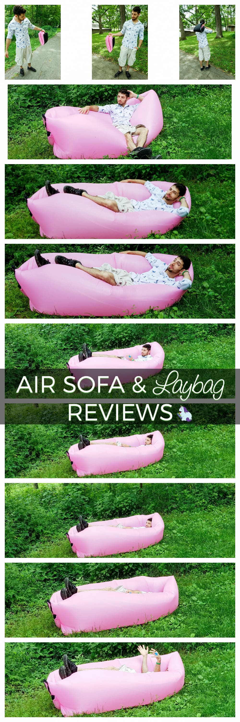 Air Sofa Inflatable Outdoor Lounger and Laybag Reviews
