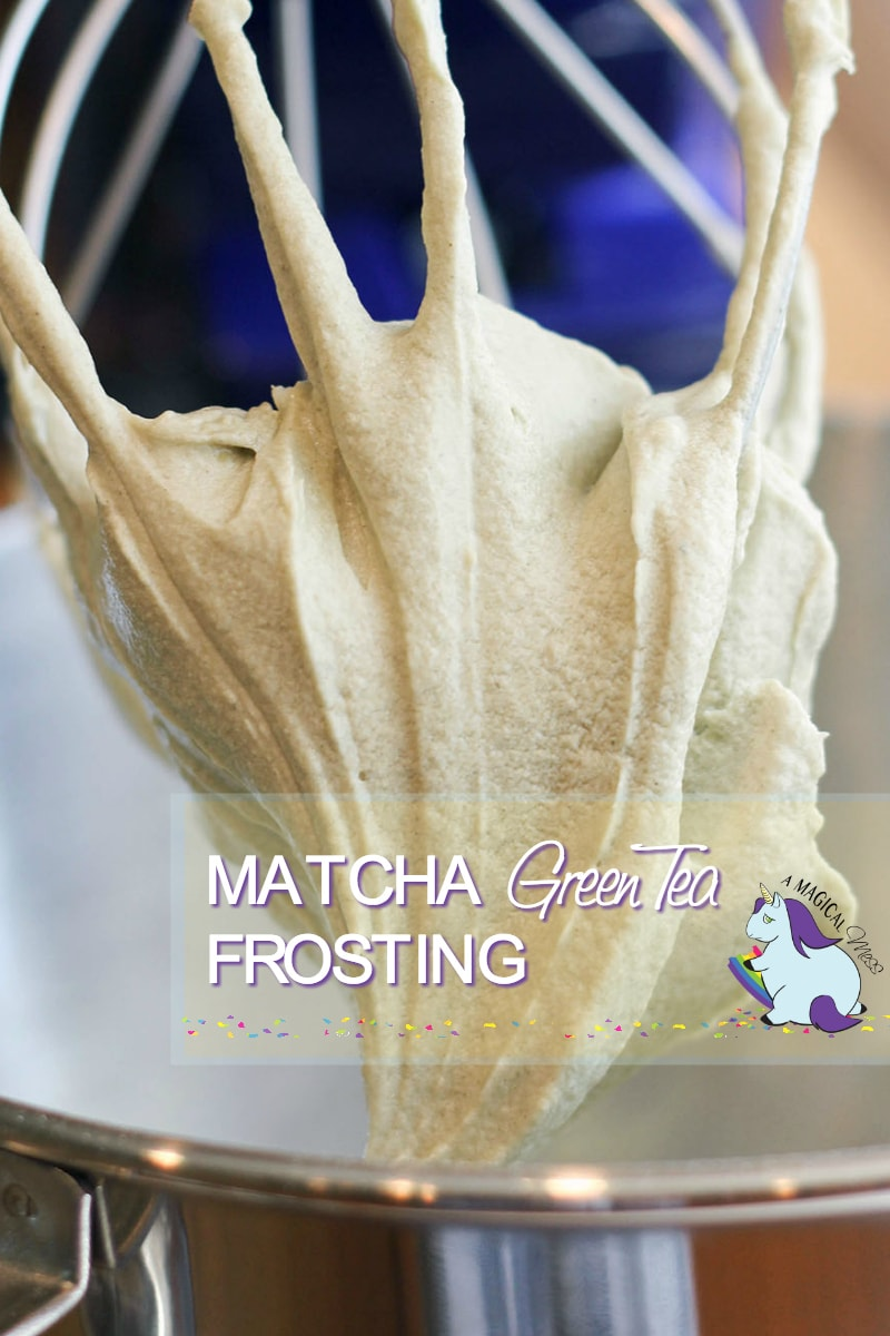 Matcha Green Tea Frosting - just add Matcha powder to our cream cheese frosting recipe