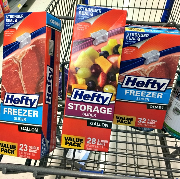 Hefty Slider Bags at Walmart