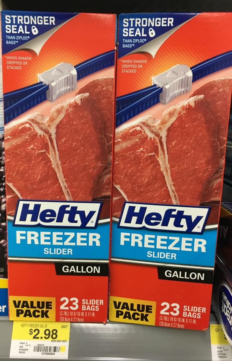 Hefty Slider Bags at Walmart