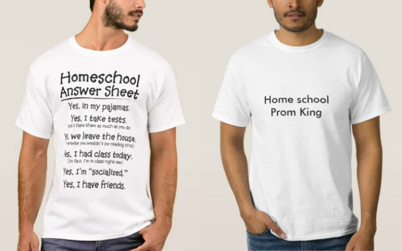 Home School shirts! Gift Ideas for parents that homeschool kids