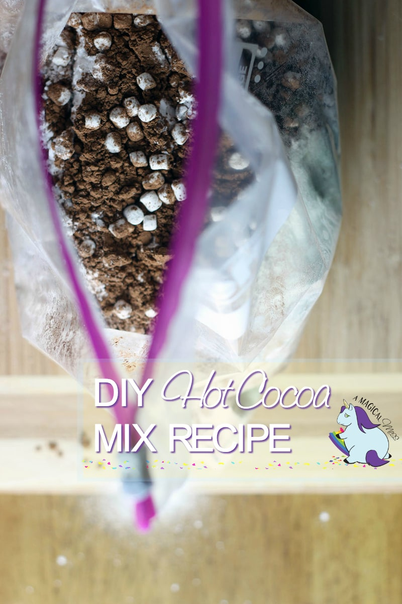 Homemade Hot Cocoa Mix Recipe in a Hefty bag