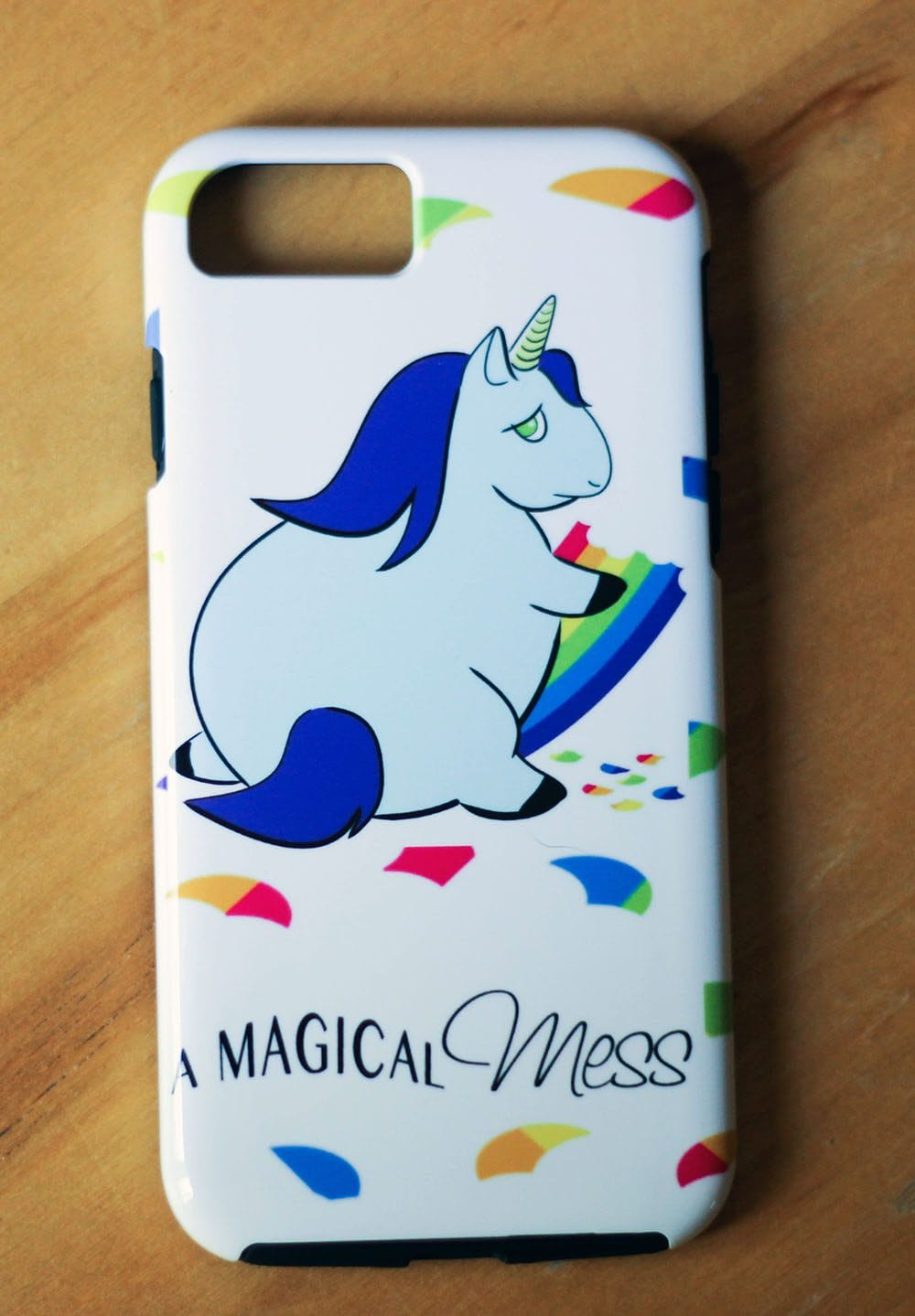 Custom iPhone case with our blog logo
