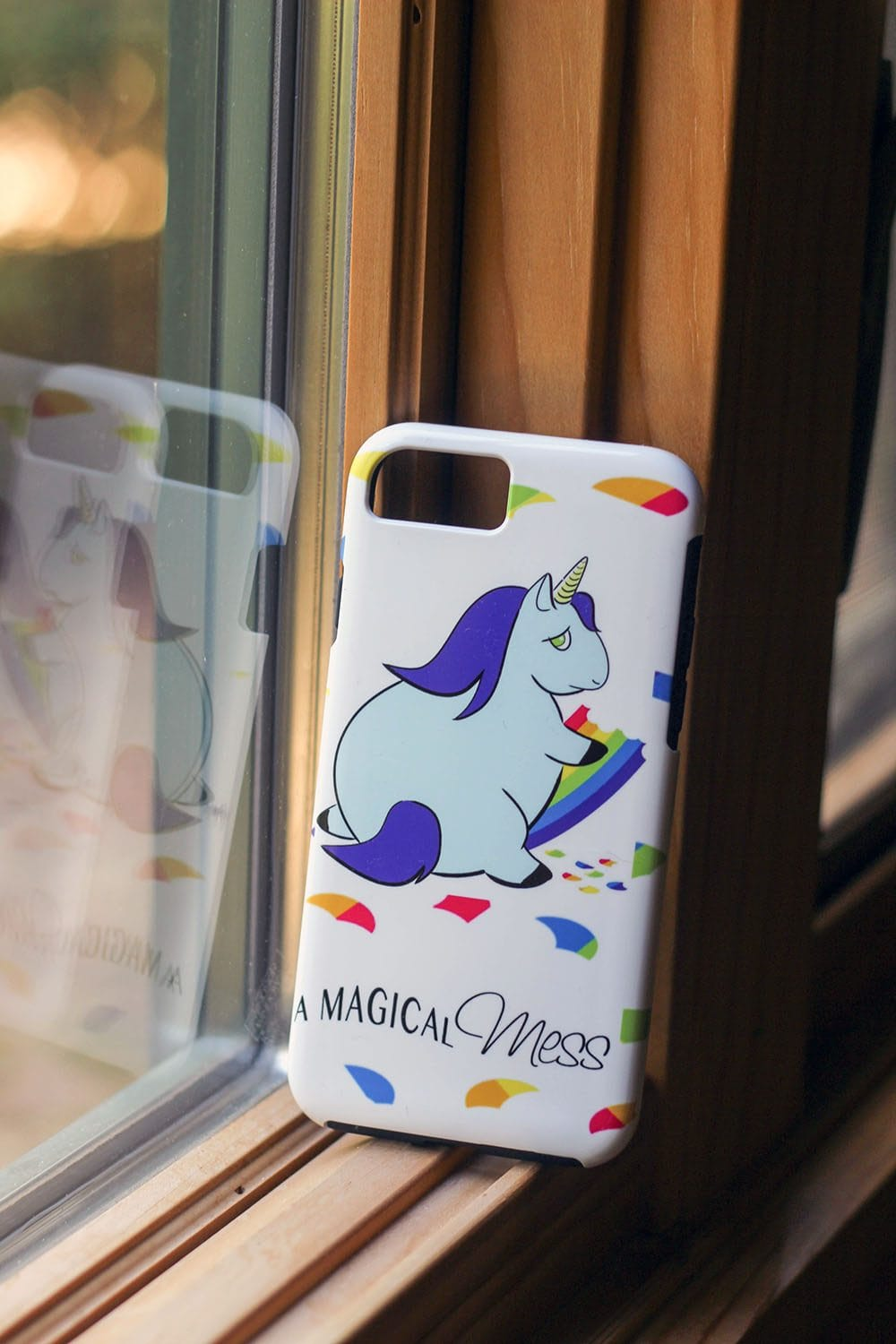 Custom iPhone case with our logo