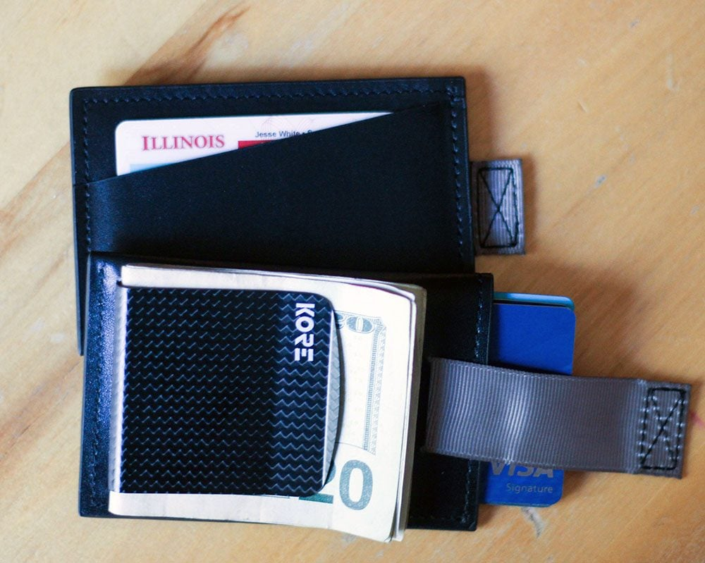 Slim leather wallets for men with RFID protection