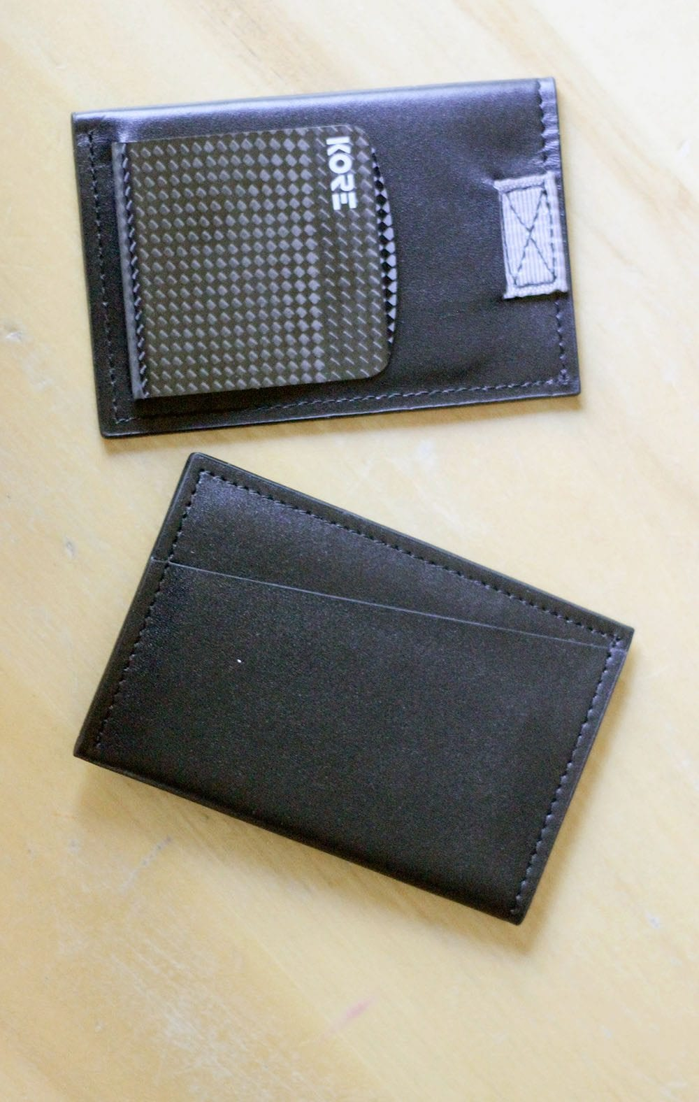 Kore RFID Protected Slim Wallet with Carbon Fiber Money Clip