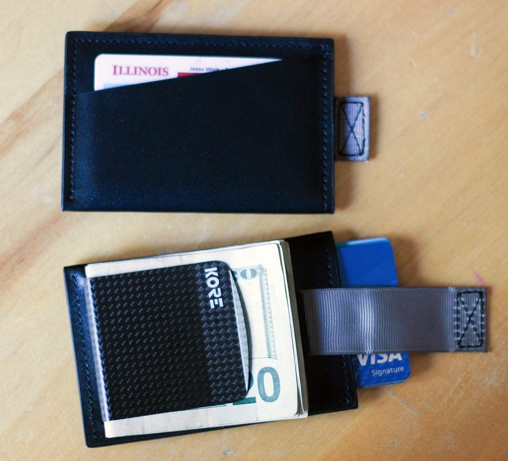 RFID Protected Slim Wallet with Carbon Fiber Money Clip