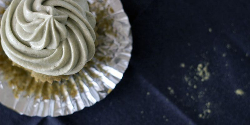 Green Tea Matcha Cupcake Recipe with Matcha Frosting