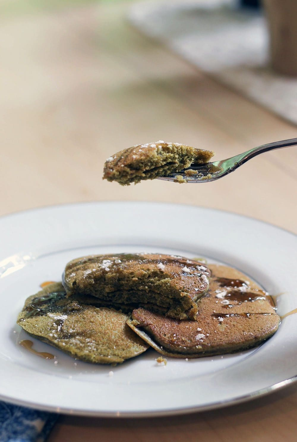Matcha Green Tea Pancakes Recipe