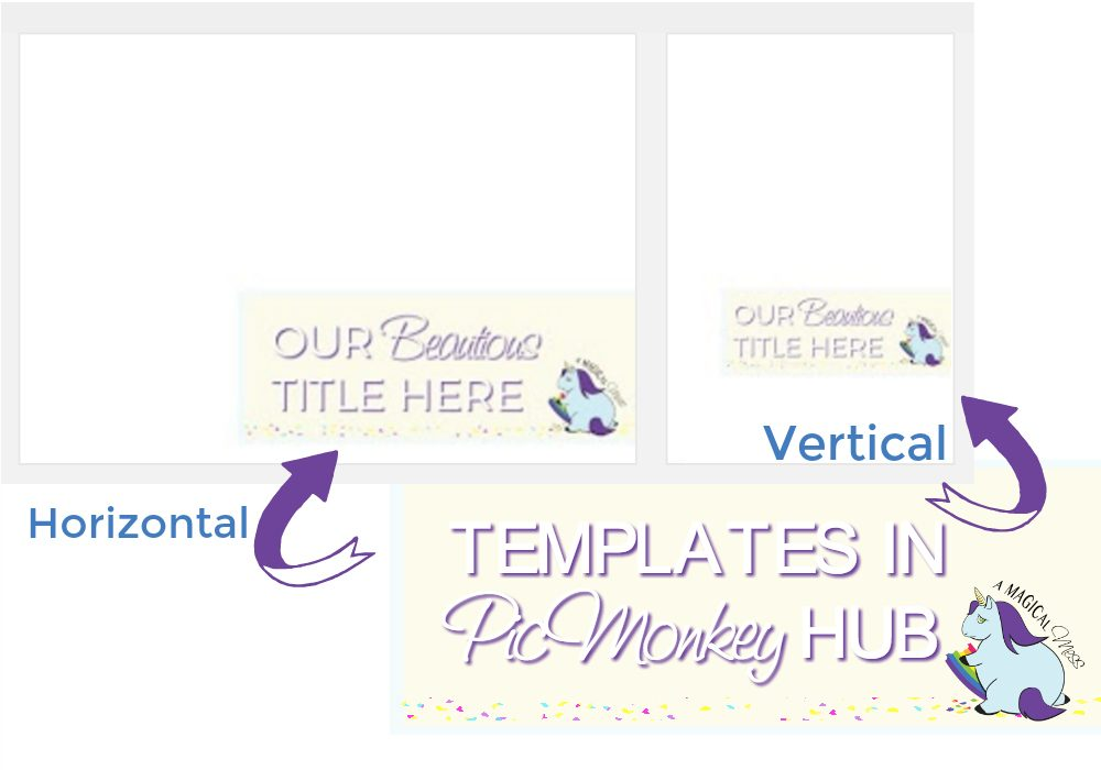 Create templates with your branding and save in the PicMonkey hub to save time