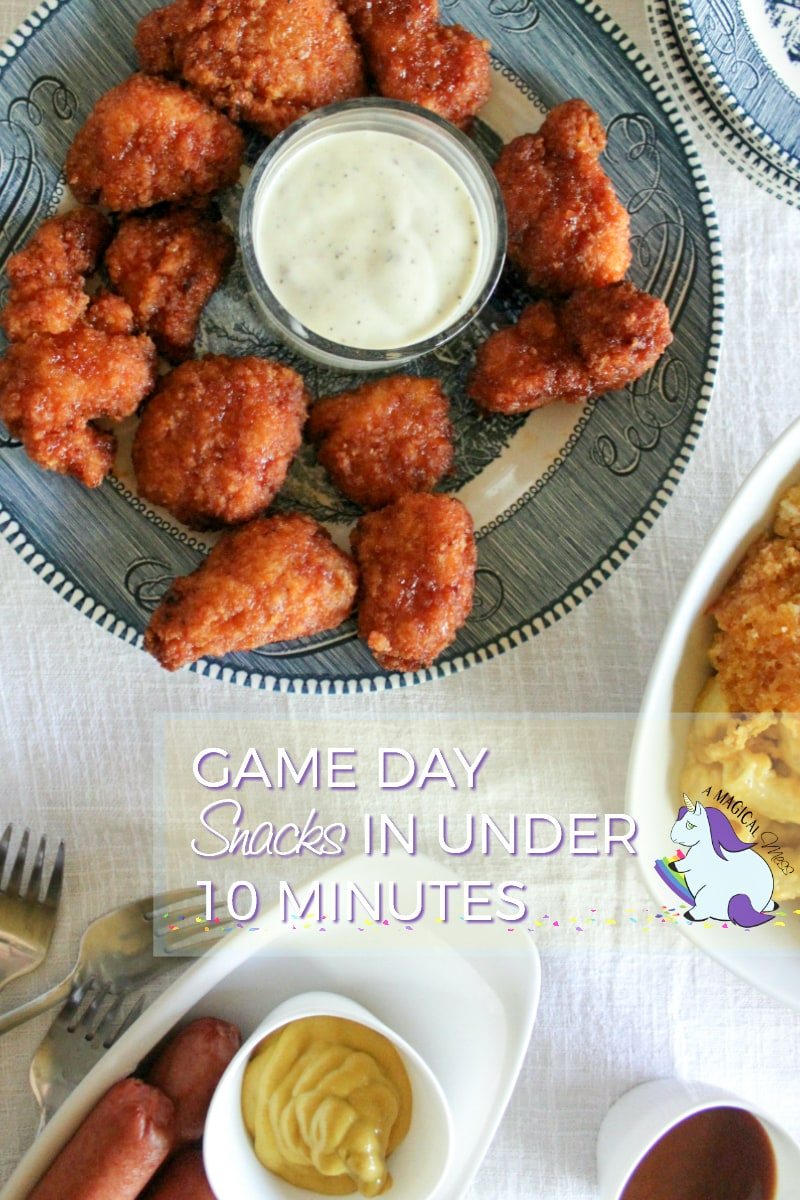 Quick and Easy Game Day Snacks in Under 10 Minutes #ClubTysonFFL AD