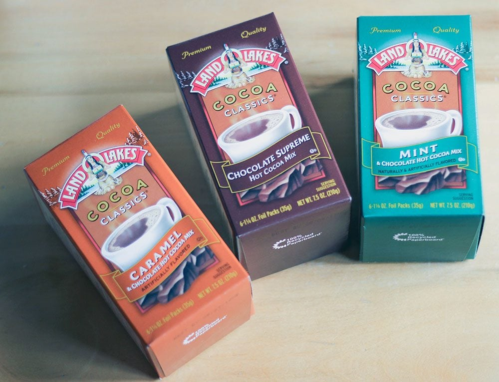 Land O Lakes hot cocoa flavors