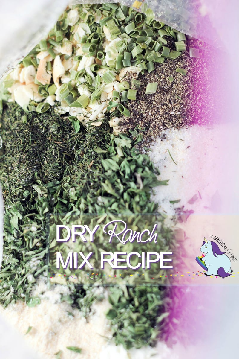 Dry Ranch Dressing Recipe Mix in a storage bag
