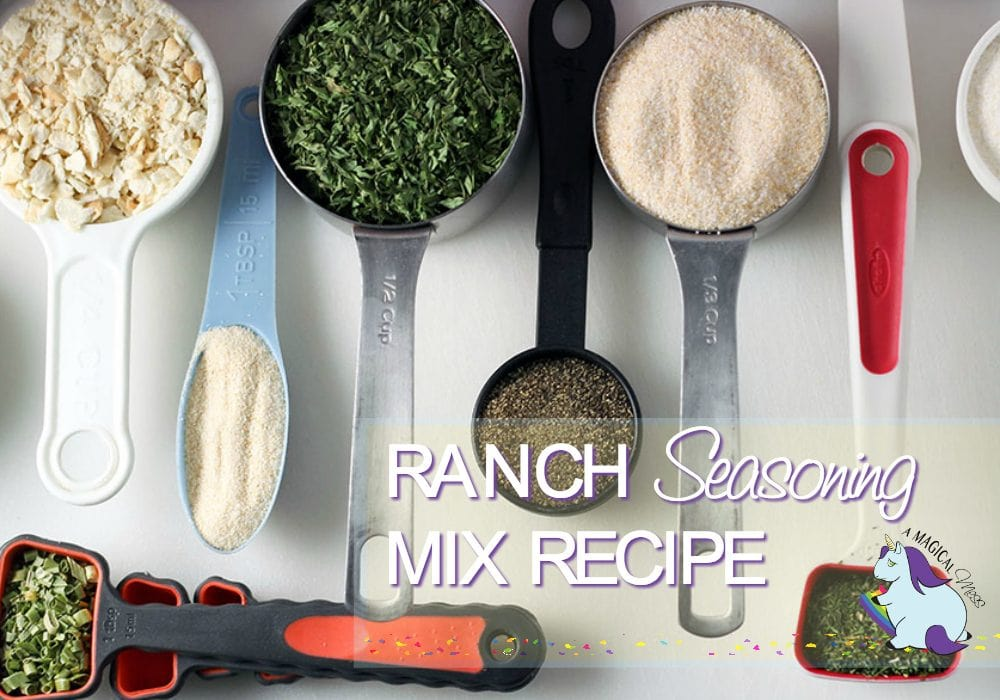 Dry Ranch Dressing Recipe Mix ingredients