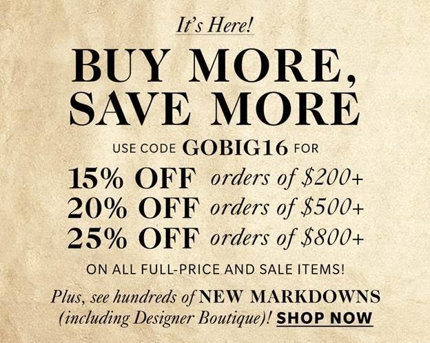 Shopbop GO BIG Sale