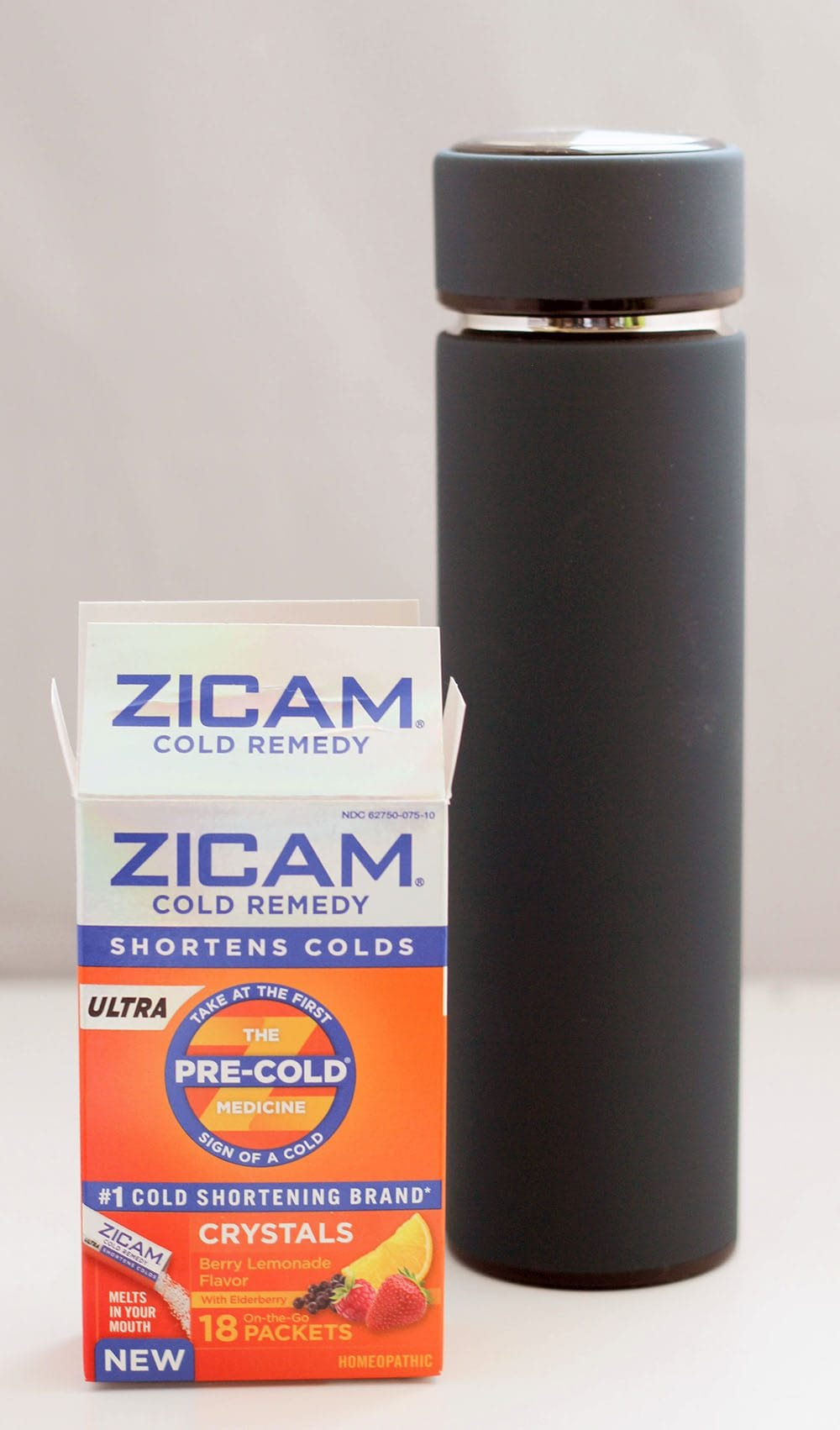 Zicam® Cold Remedy Ultra Crystals to shorten the duration of a cold