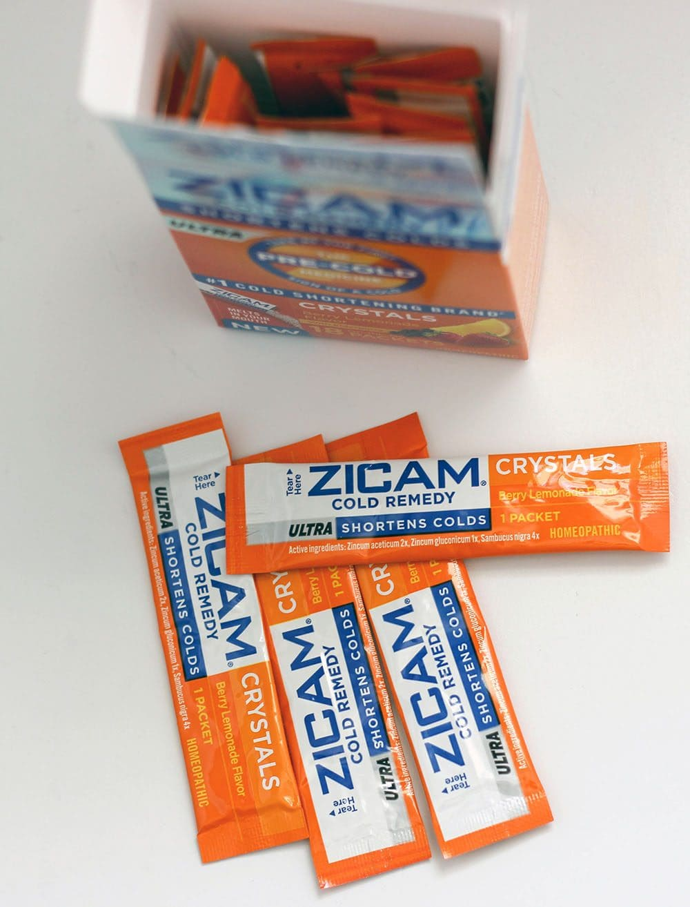 Zicam® Cold Remedy Ultra Crystals - easy on-the-go packets and no water needed