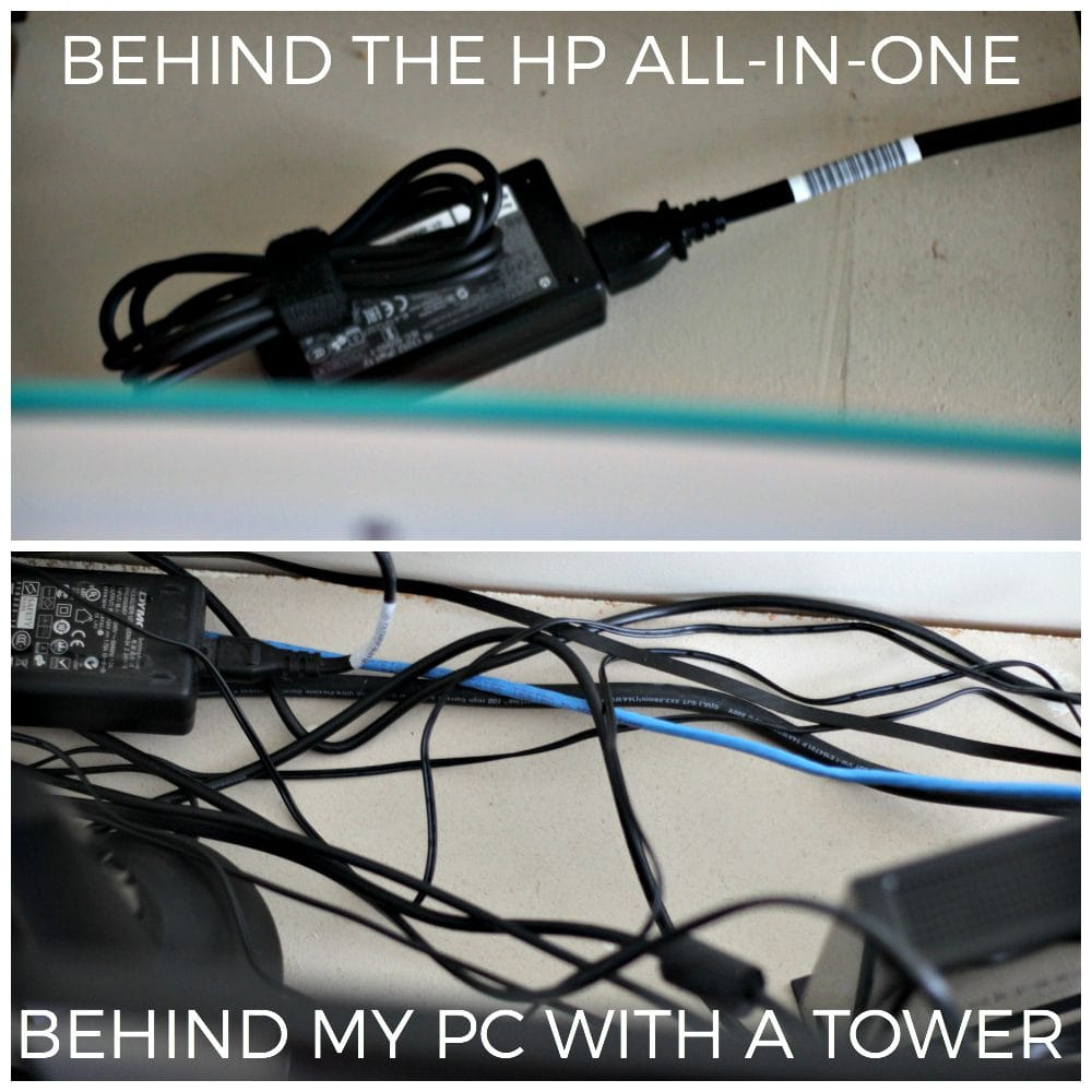 Behind the old PC vs. behind the HP All-in-One
