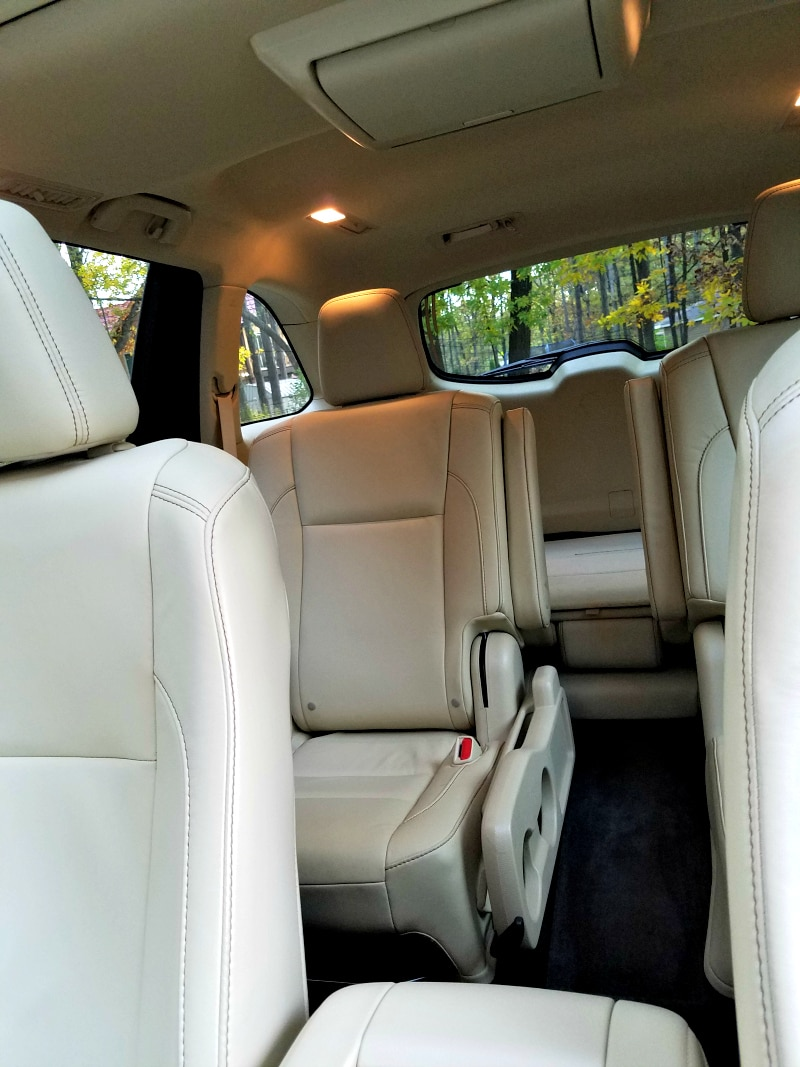 Backseats of the 2016 Toyota Highlander XLE - Best SUV for Teens