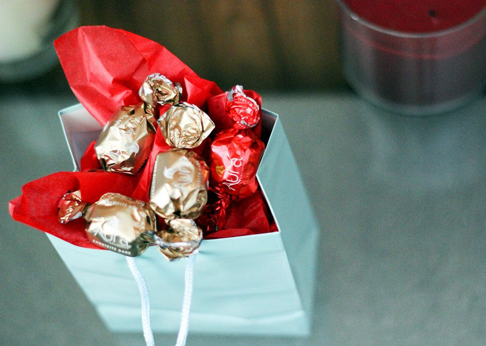 Candy to top off gift bags