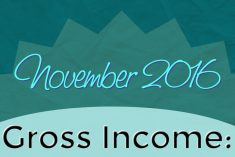 Monthly Blog Income Report - November 2016