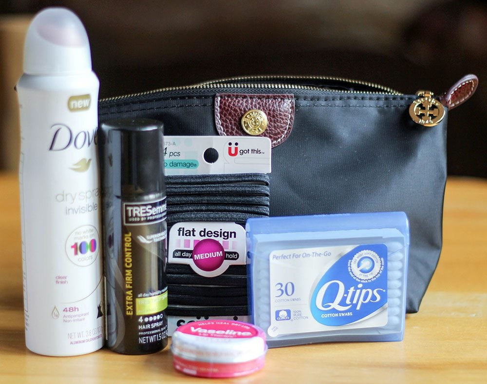 Party pack full of supplies from Walgreens for beauty emergencies