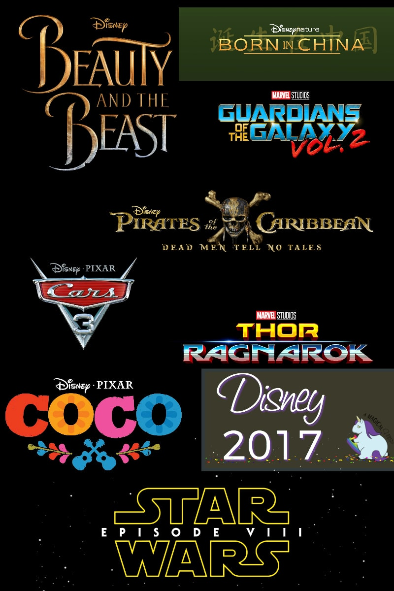 2017 List of Disney Movies