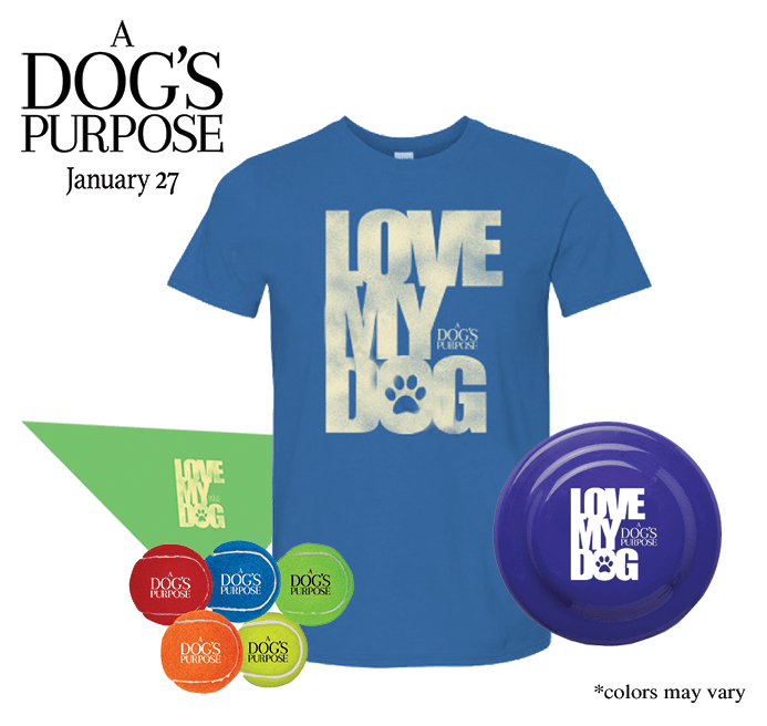 A Dog's Purpose Movie prize pack giveaway