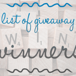 Giveaway Winner List – August – December 2016