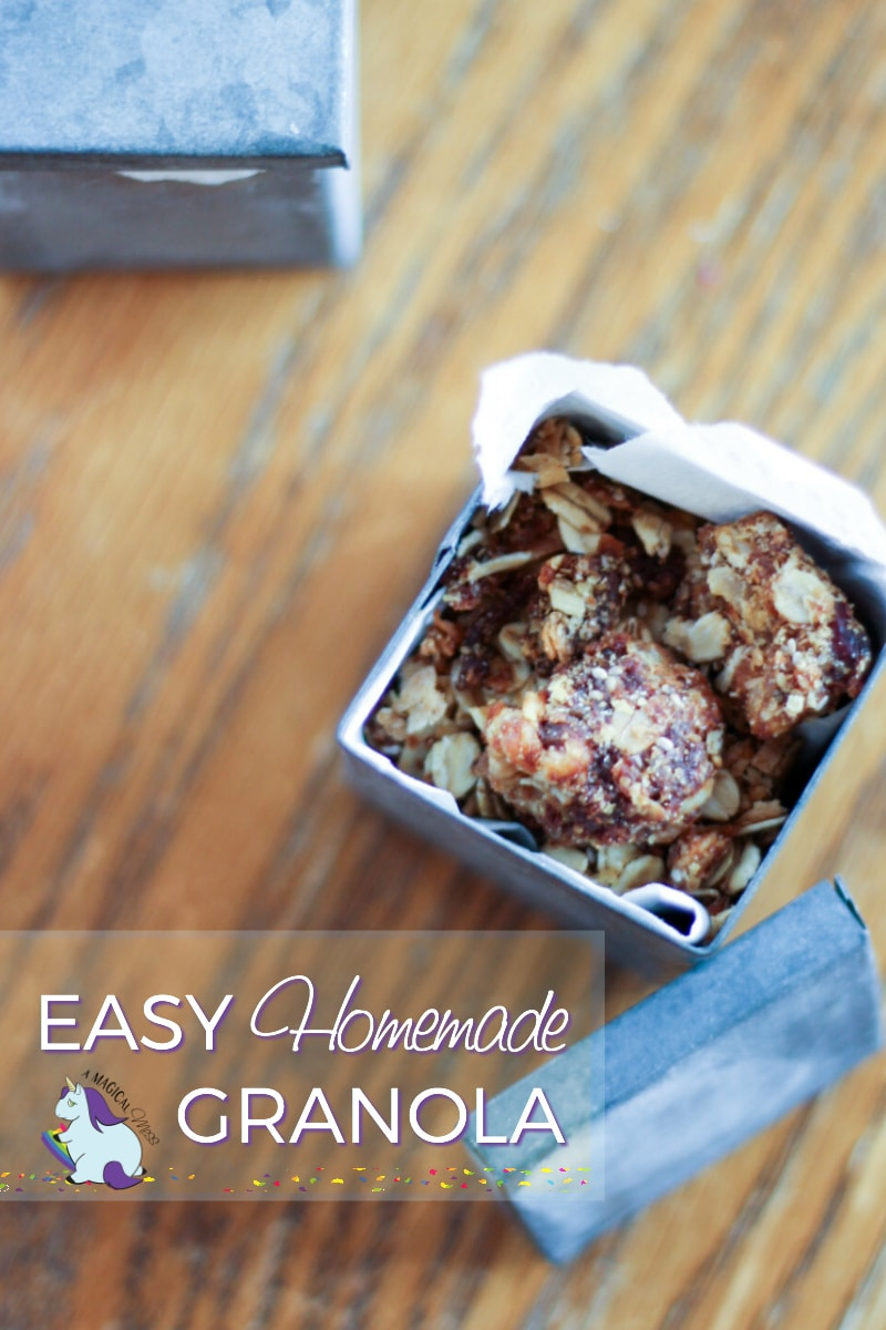 Easy Homemade Granola Recipe from my aunt's mom from 1969. So good! Granola Recipe Homemade