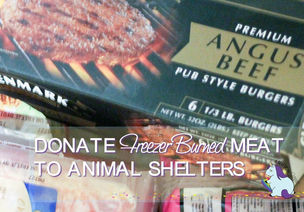 Donate freezer-burned meat to animal shelters