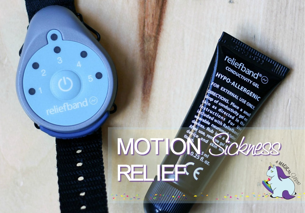 Reliefband and gel on a table
