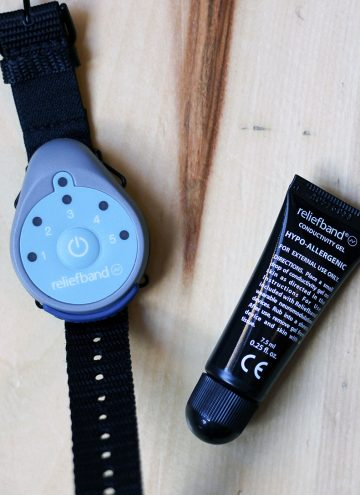 Reliefband device to help fight nausea from morning sickness and motion sickness