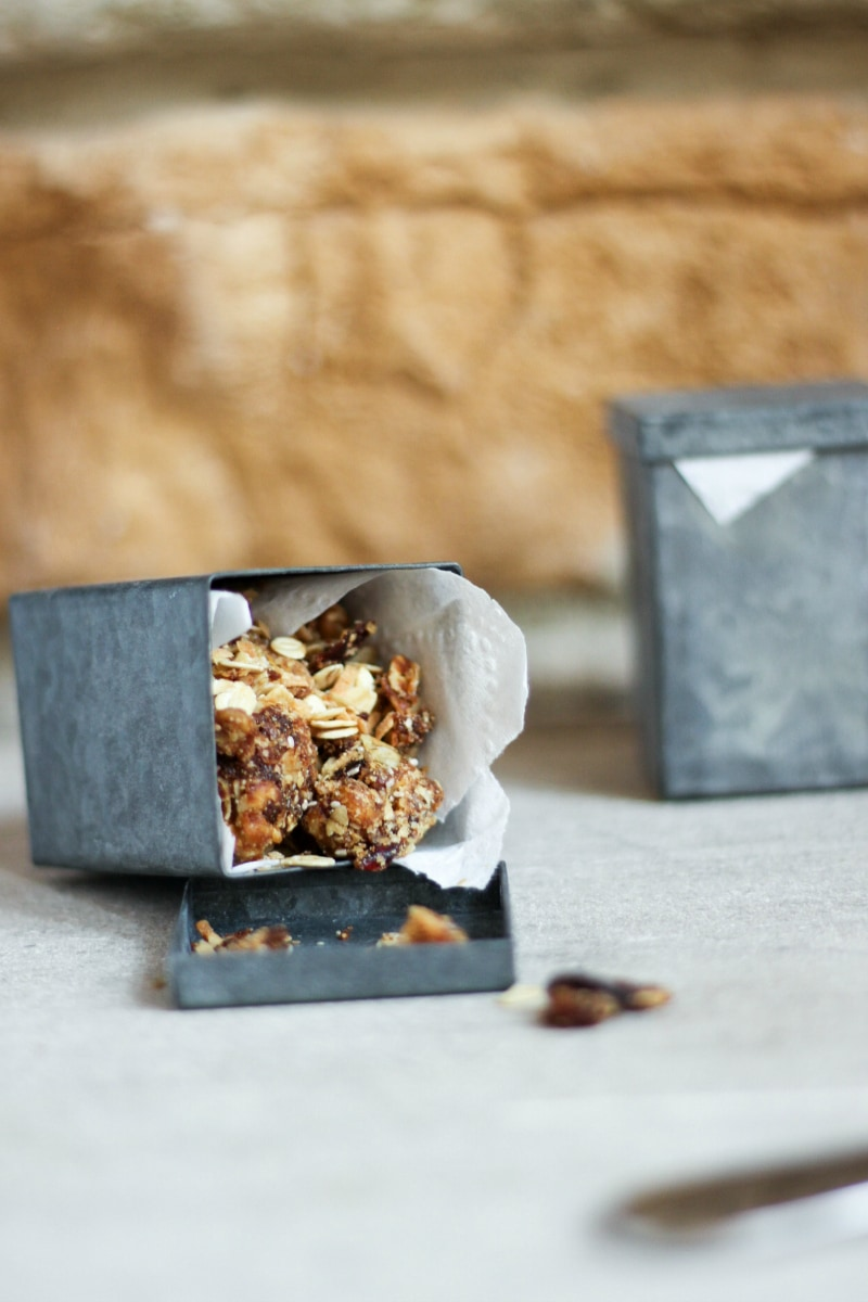 Homemade granola in gift tins