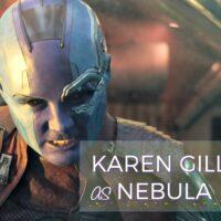 Karen Gillan Interview as Nebula on set of Guardians of the Galaxy Vol. 2