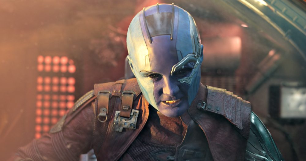 Karen Gillan Interview as Nebula on set of Guardians of the Galaxy Vol. 2