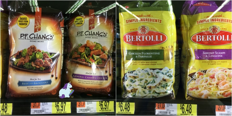 Skillet meals available in the Walmart freezer section