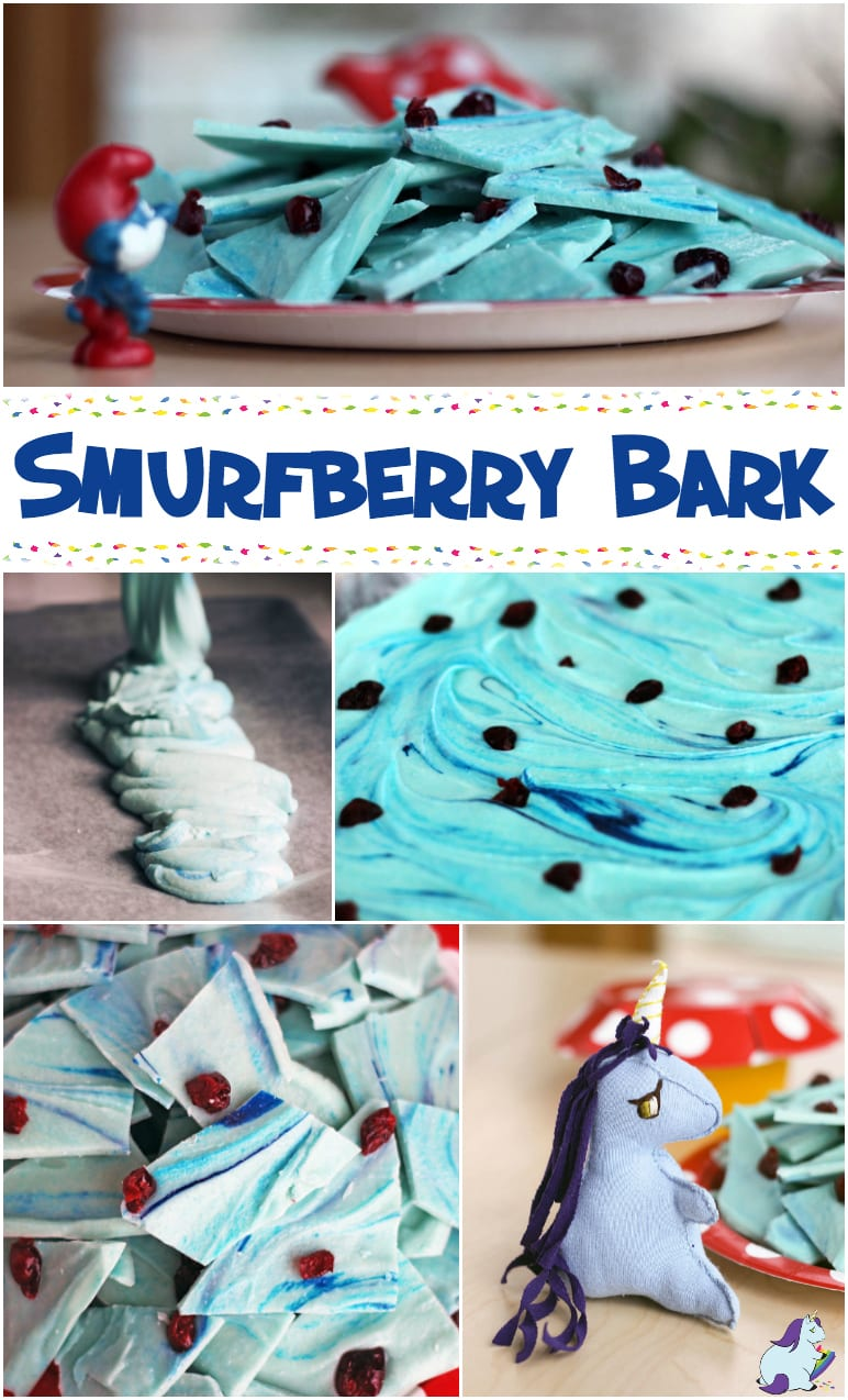 Smurfberry Bark Recipe for The Smurfs New Movie