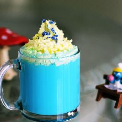 Vanilla Smurfette Blue Drink Recipe for Smurf Fans