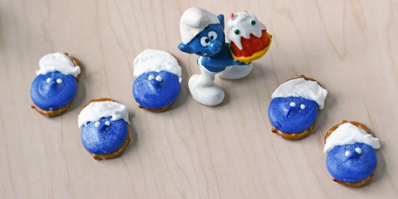 Smurfs Pretzel Candy Recipe and Movie Swag Giveaway