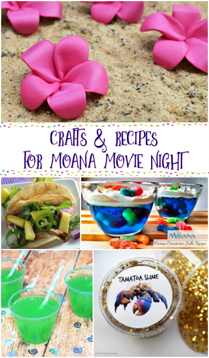 Moana crafts and recipes for the best movie night a for Crafts for birthday parties