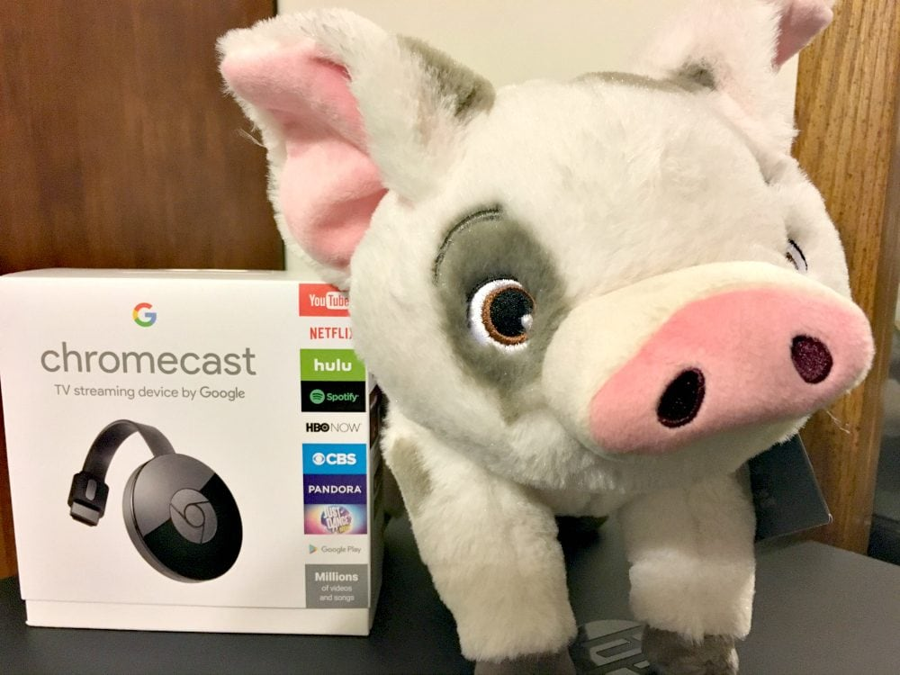 Google Chromecast and Pua from Moana