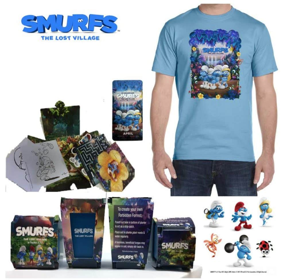 Smurfs movie swag giveaway