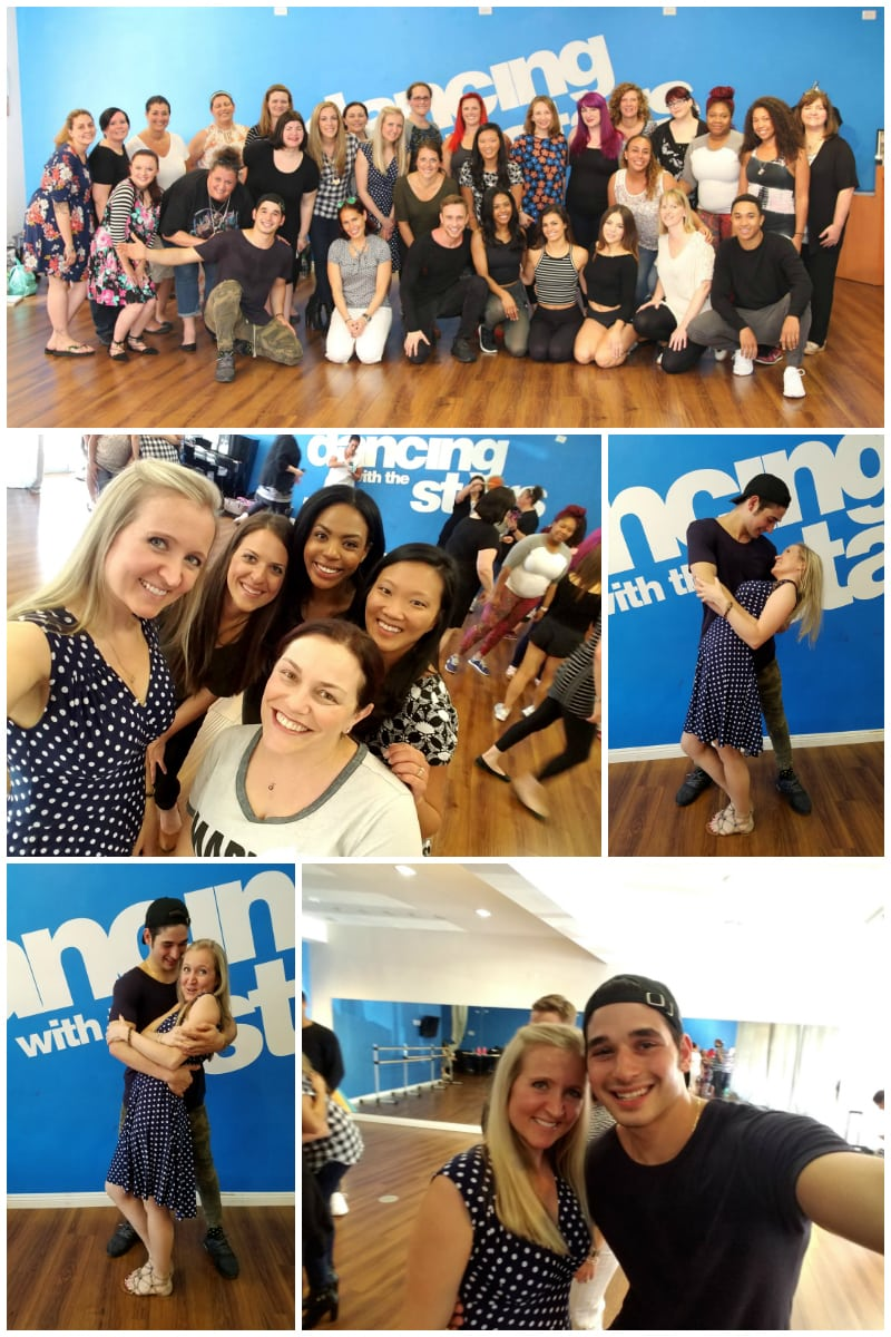 Bloggers get a Dance Lesson with Dancing with the Stars Troupe Members
