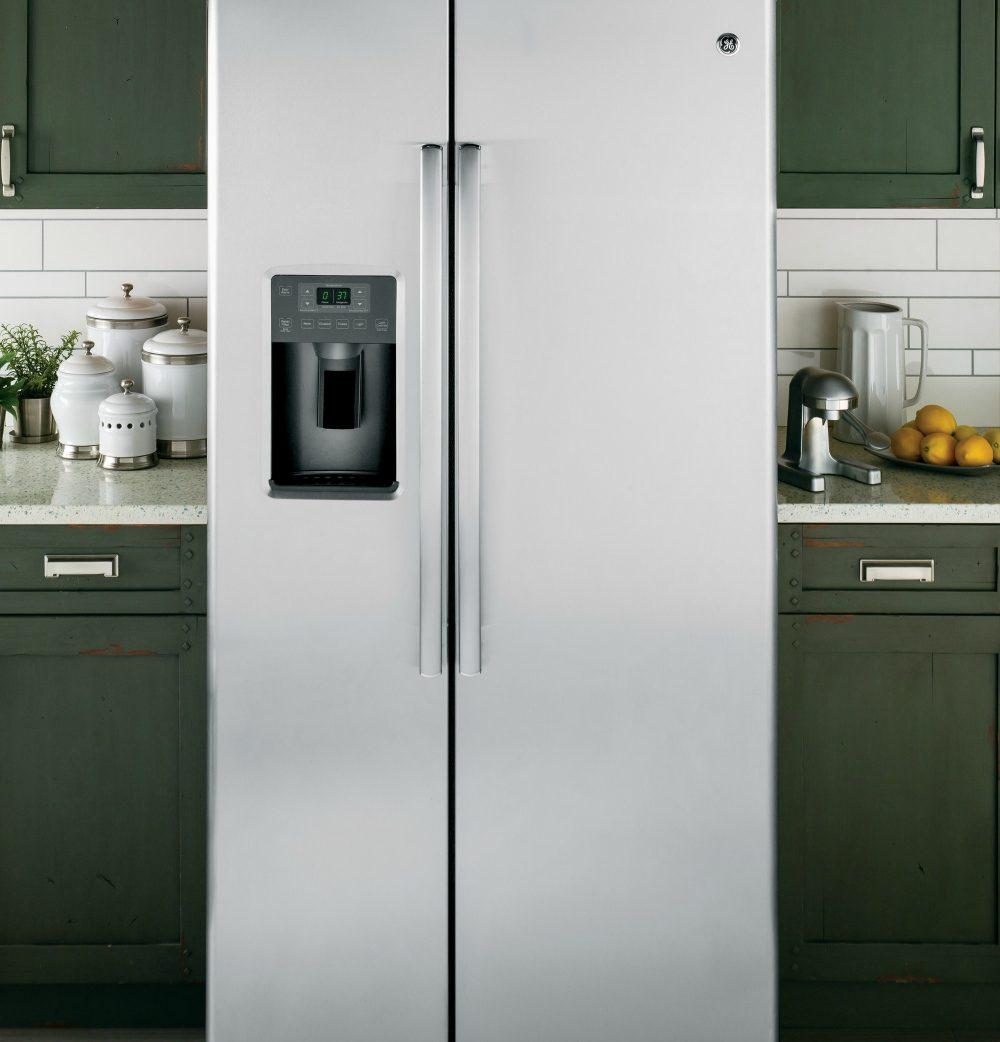 GE Refrigerator - side-by-side refrigerator
