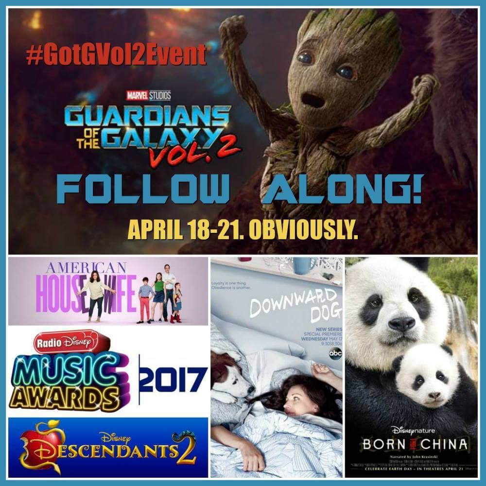 Guardians of the Galaxy Vol. 2 Press Junket Schedule #GotGVol2Event