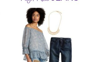 LADIES! Flattering Outfit Ideas and Where to Buy High Waisted Jeans