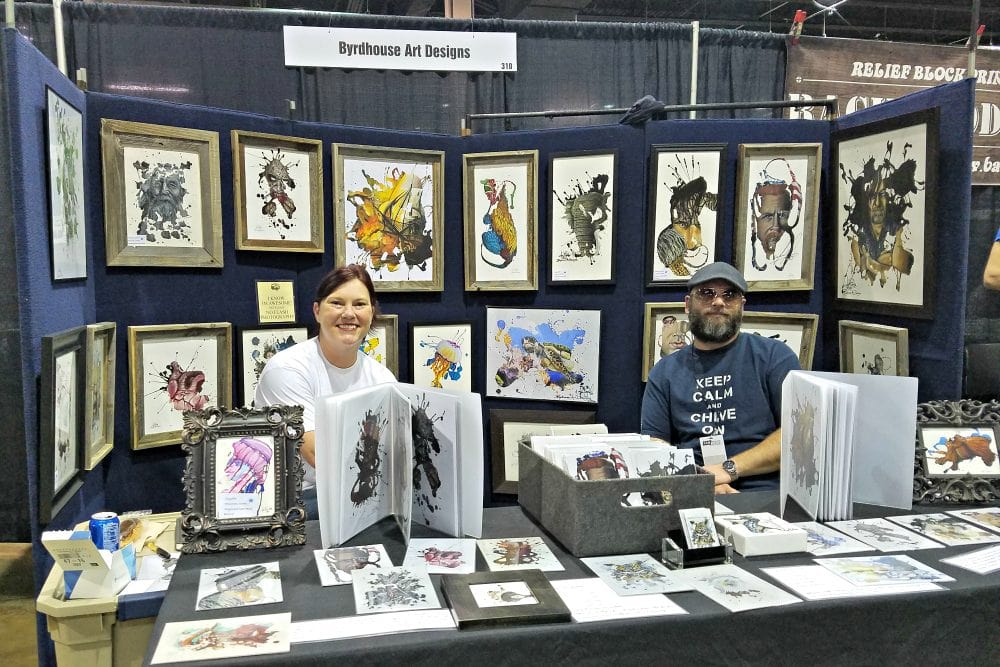 Byrdhouse Art - Heroes & Villains + Walker Stalker Con = Fan Fest Chicago 2017